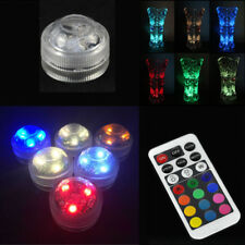 SUBMERSIBLE 10LED LIGHTS WATERPROOF DOME TEA LIGHT PARTY VASE RGB REMOTE CONTROL