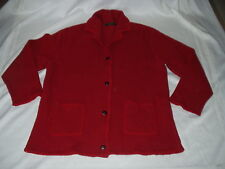 GAELTARRA IRELAND women Red Pure Wool button down SWEATER w/ pockets Size M