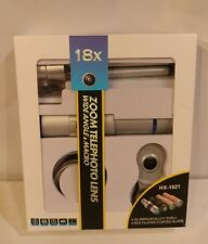 US-18X Zoom Telephoto Telescope+Fisheye+Wide Angle+Macro Lens iPhone Samsung NIB