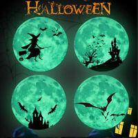 Bat Hexe Schloss Moon Leuchtend Wall Sticker Selbstklebend Halloween Decal Decor