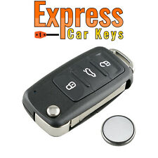 3 Button Remote Key Fob Case Service Kit For Volkswagen VW Touareg 2002 - 2010