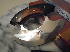 Timber Wolf Shredder Chrome Ulu Skinner Chopper Knife Full Tang TW1154 Wood New