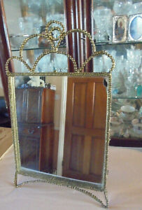 MIRROR SELF STANDING FROM ZARA HOME SIZE FRAME 19X11 INS THE MIRROR IS 12X11 INS