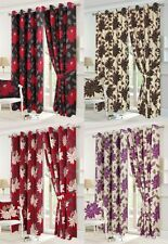 SEREN Fully Lined Half Panama Pair of curtains Tie back Eyelet 10Sizes/ Cushions