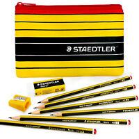 Staedtler Noris 120 - Pencil Case Set = 6 Noris Pencils HB + Eraser & Sharpener