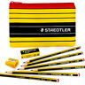 Staedtler Noris 120 - Pencil Case Set = 6 Noris Pencils HB + Eraser & Sharpener