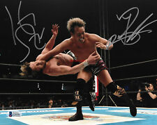 Kazuchika Okada  Kenny Omega  New Japan Pro Wrestling Autographed 8x10 Photo RP