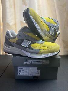 New Balance 992 Nice Kicks Amoeba Music Grey/Yellow Size 9.5