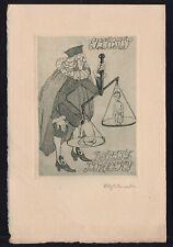 42)Nr.101-EXLIBRIS,Otty Schneider, 1917, Richter, signiert , C3- Radierung