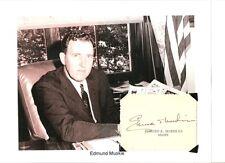 Edmund Muskie Autograph Secretary State Jimmy Cater Senator Governor Maine #1