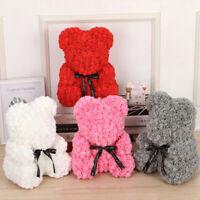 Rose Bear Flower Teddy Doll With Box Birthday Lovers Wedding Valentine Gift Foam