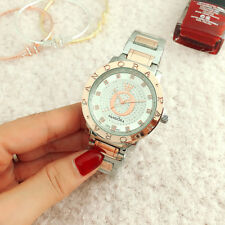 Women's Dress Stainless steel Wristwatch Ladies Crystal silvery Pandor Watch 3#