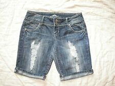 Women's Almost Famous Distressed Denim Bermuda Jean Shorts - 13
