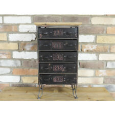 Industrial Cabinet Drawers Retro Vintage Unit Shelves Storage Desk