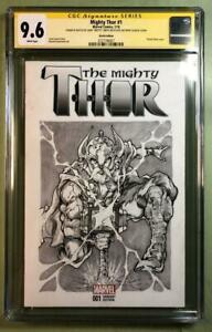 THE MIGHTY THOR #1 CGC (Signature Series)9.6, Original Art Front and Back*