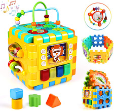 Activity Cube Toy Motoric Game Educational Toy Gift for 1 Year Old Boy Girl New