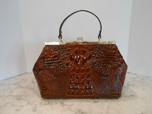 New BRAHMIN Juliette PECAN MELBOURNE Leather Satchel $265