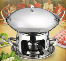 25CM Round Stainless Steel Chafing Dish HotPot Soup Alcohol Stove Heated Warmer