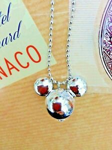 FREE GIFT BAG Silver Plated Mickey Minnie Mouse Necklace Chain Xmas Cute Gift