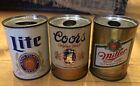 Vintage Miller Lite, Coors, Miller Metal Mini Beer Can Lighter Holders Lot Of 3