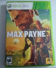Max Payne 3 (Microsoft Xbox 360, 2012) Complete Very Good Condition