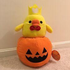 HUGE Kiiroitori Halloween Pumpkin Plush. Authentic. Japan Imported Rilakkuma