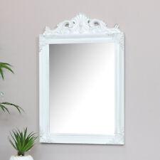Antique white wall mirror shabby chic French living room hallway bathroom mirror
