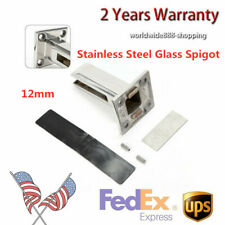 Stainless Steel Glass Panel Pool Fence Staircase Spigot Balustrade Floor Clamp