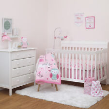 Child of Mine Princess 3pc Crib Bedding Set - Owl/Unicorn