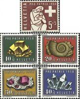 Schweiz 657-661 (kompl.Ausgabe) gestempelt 1958 Pro Patria