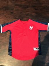 New York Yankess Embroidered Youth Red And Blue Jersey, Size 7