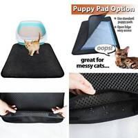 Cat Double Litter Layer Tray Mat EVA Control Paw Floor Kitten Scatter Clean TIK
