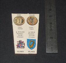CHROMO YOPLAIT ANNNES 1970 LE MONDE ET SES RICHESSES R1 IRLANDE ISLANDE