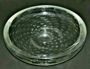 Whitefriars Glass Bowl Controlled Bubble In flint