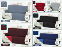 1/2/3 Seater PET Sofa Covers Slipcover Settee Reversible TIE Couch Protector