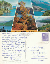 1980's MULTI VIEWS OF SCOTTISH LOCHS SCOTLAND COLOUR POSTCARD