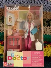 Rare 2001 Toys R Us Exclusive Baby Doctor Barbie Play Set With Two Babies