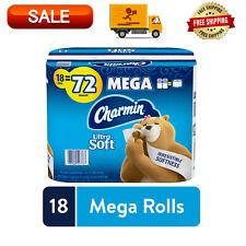 Charmin Ultra Soft Toilet Paper 18 Mega Rolls = 72 Regular Rolls, Septic-Safe