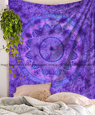 Indian Large Ombre Mandala Tapestry Cotton Bohemian Bedspread Wall Hanging Throw