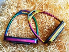 12cm Hitch Super Rainbow REGENBOGEN Sicherheitssteigbügel Stainless S. Stirrups