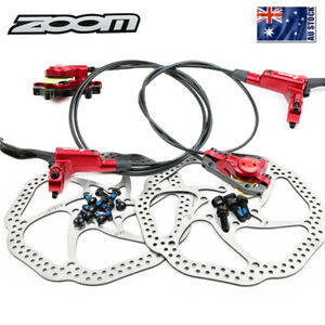 ZOOM Hydraulic Disc Brake MTB Bicycle 160mm/203mm Disc Brake 6 Bolts Rotor AU