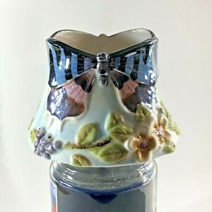 Home Interiors Candle Jar Shade Topper Capper-Butterflies Flowers-Med 4 3/4 in