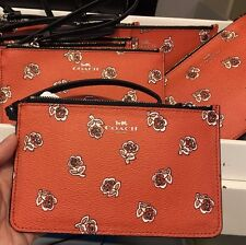 NWT Coach Sienna Rose Small Wristlet F56026 - Watermelon