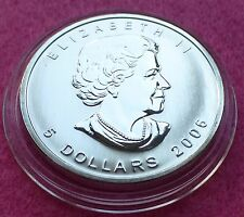 2006 CANADA  MAPLE LEAF $5 FIVE DOLLAR  SILVER  BU 1oz  COIN