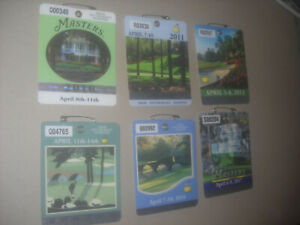 Masters Badges (2010,11,12,13,16,17)