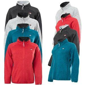 Womens Ladies Fleece Jacket Full Zip Up Warm Classic Hiking Anti Pill Cardigan