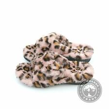 NEW Vionic Relax Leopard Women's Adjustable Plush Slippers in Pink Leopard - 7