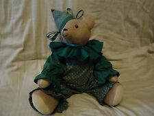 Clown Teddy Bear wearing green