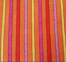 Summer Garden Kate Knight BTY Quilting Treasure Stripe Bright Yellow Pink Orange