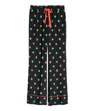 NWT KENZO x H&M LADIES PATTERNED SILK PANTS Size US 6 / UK 10/ IT 42